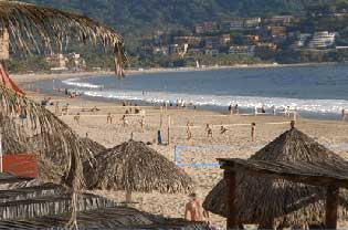 Pallapas, Beach, Bay and Nets, Ixtapa